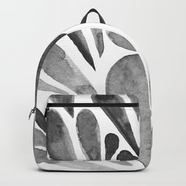 Watercolor artistic drops - black and white Backpack