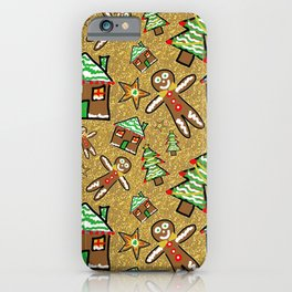 Gingerbread Family Christmas iPhone Case