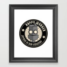 Happy Worker Framed Art Print