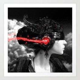 GIRL-MUSIC-ART Art Print