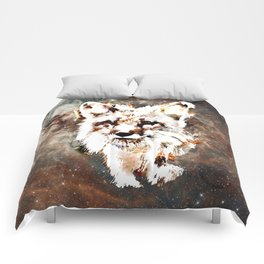 Space Fox no4 Comforters