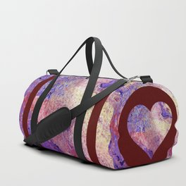 Purple and Red Cosmos Duffle Bag