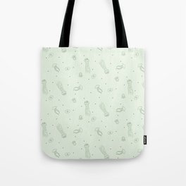 Jellyfish in Green Tote Bag
