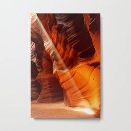 Beam Of Light Antelope Canyon Arizona Landscape Metal Print