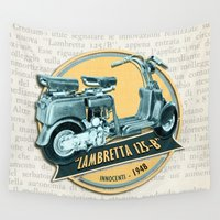 moto Wall Tapestries featuring LAMBRETTA 125 B by Chicca Besso
