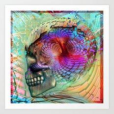 Skull Brain Art Print