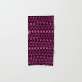 Dividers 07 in Purple over Black Hand & Bath Towel