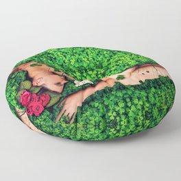 Birth of a New Dawn Female Portrait Floor Pillow