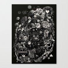 Spark-Eyed Oblivion Cascade Blues Canvas Print
