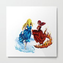 Dancers of Fire and Ice Metal Print