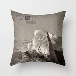 Half Dome at Yosemite Throw Pillow