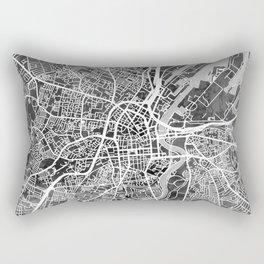 Belfast Northern Ireland City Map Rectangular Pillow