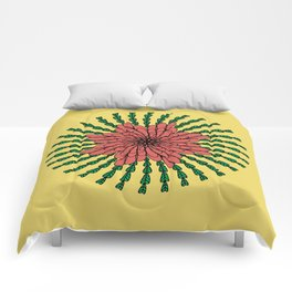 coral flower Comforters