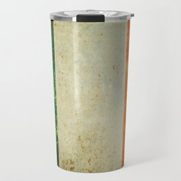 Grunge Irish Flag / Irish Tricolour Travel Mug