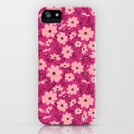 Cosmea pink iPhone Case