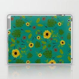 Sunflower & Monstera Leaf Laptop & iPad Skin