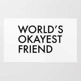 World's okayest friend Rug