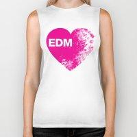 edm Biker Tanks featuring EDM Heart by DropBass