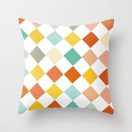 Color Check Throw Pillow