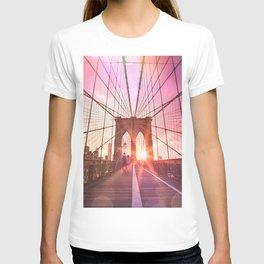 New York City Brooklyn Bridge Sunset T-shirt