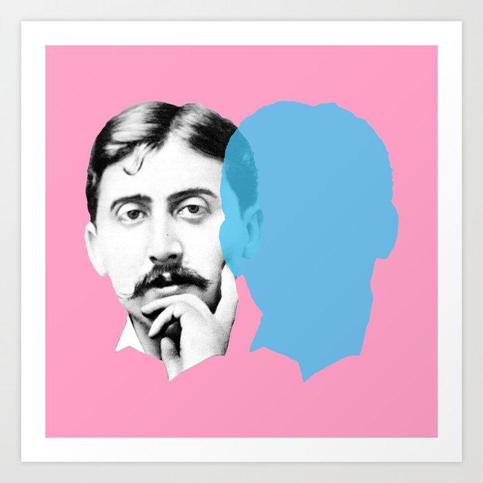 Marcel Proust art print for college dorms