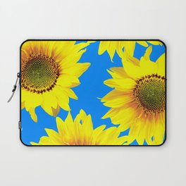 Sunny Sunflowers with blue sky - summer mood - #Society6 #buyart Laptop Sleeve