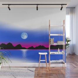 Moon Horizon 102 White Sky Wall Mural