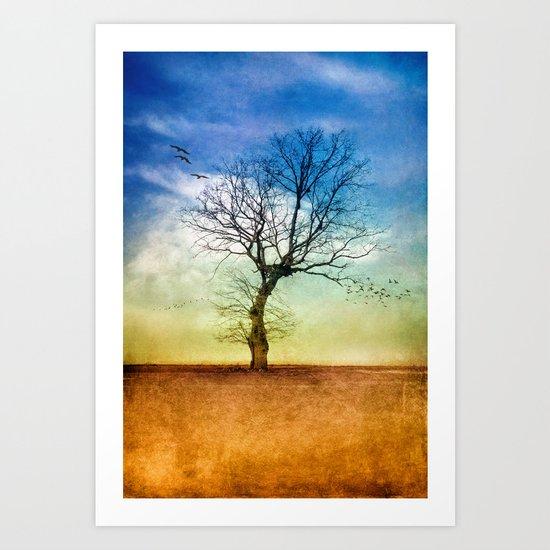 ATMOSPHERIC TREE | Autumn Light Art Print