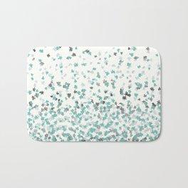 Floating Confetti - Cream Mint and Silver Bath Mat
