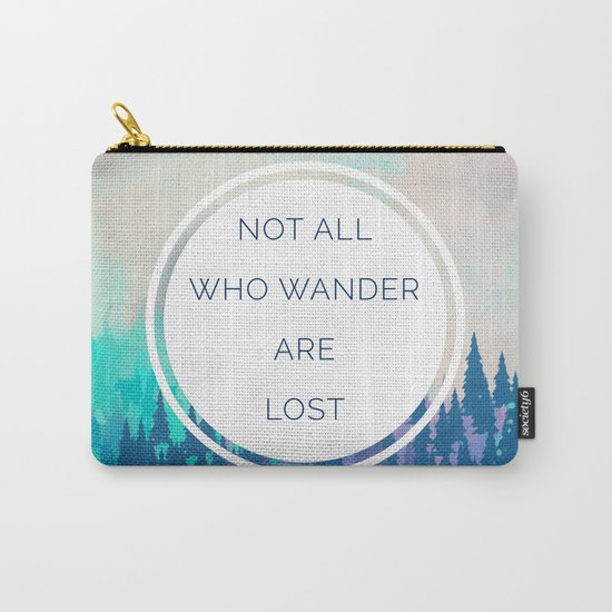 All Who Wander Travel Quote Carry-All Pouch