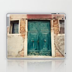 Turquoise Door in Venice Laptop & iPad Skin