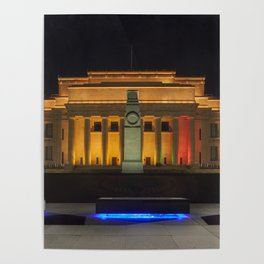 Auckland Museum at Night Poster