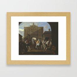 William Hogarth , O the Roast Beef of Old England ('The Gate of Calais') 1748 Framed Art Print