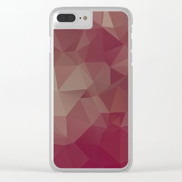 Reds and Pinks Abstract Pyramid Art Clear iPhone Case