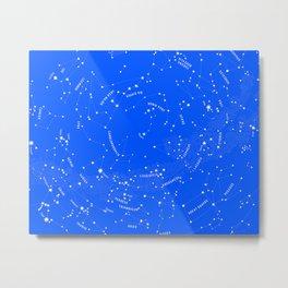 Constellation Map - Blue Metal Print