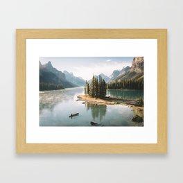 A Canadien Postcard Framed Art Print