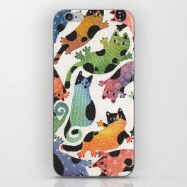 12 cats iPhone Skin