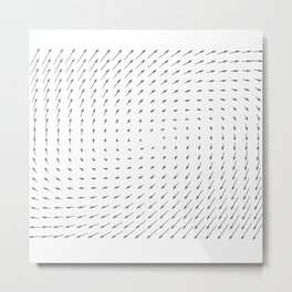 Vector Field basic - Gray Metal Print