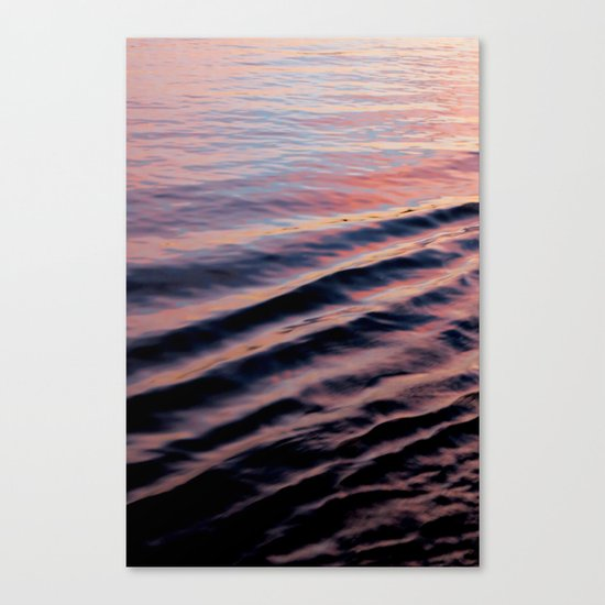 PINK RIPPLES Canvas Print