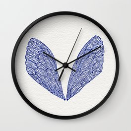 Navy Cicada Wings Wall Clock