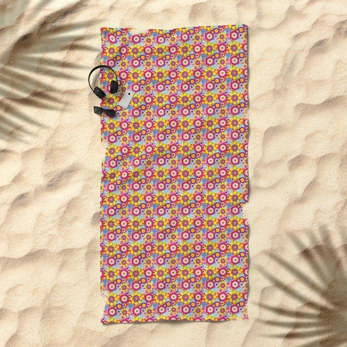 Floral Mix Beach Towel
