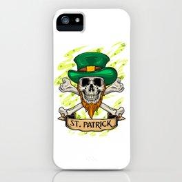 St. Patrick Skull - Irish St. Patrick's Day iPhone Case