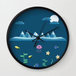 Blue Mountain Boat Wall Clock