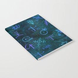 Alchemy Symbols Pattern Notebook
