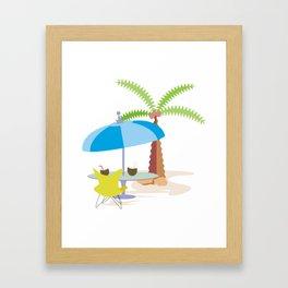 Hurray, vacation! Framed Art Print
