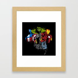 all together avenger s Framed Art Print