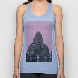 Angkor Wat with pink Unisex Tank Top