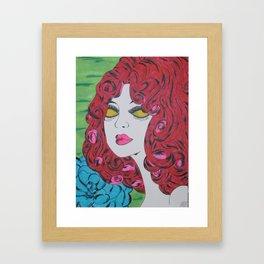 Red Haired Girl Framed Art Print