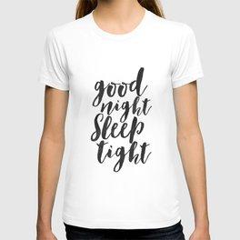 printable art,good night sleep tight,bedroom decor,kids gift,nursery decor,quote prints,wall art T-shirt