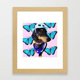 Butterfly boi Framed Art Print